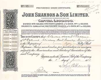 John Shannon & Son Ltd.