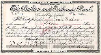 Bullion and Exchange Bank