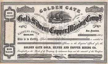 Golden Gate Gold, Silver and Copper Mining Co.