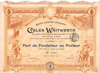 Agence Generale Francaise des Cycles Whitworth