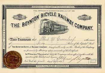 Boynton Bicycle Electric Railway
