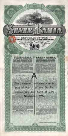 State of Bahia 5 % Gold Loan of 1913