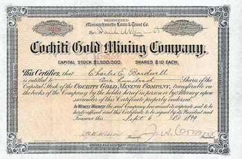 Cochiti Gold Mining Co.