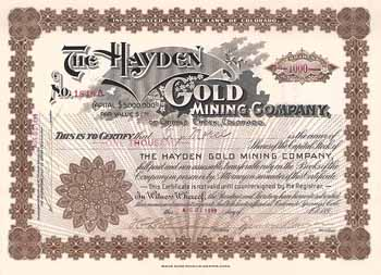 Hayden Gold Mining Co.