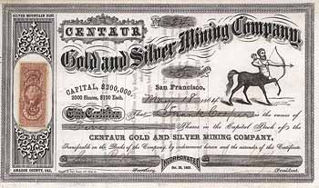 Centaur Gold and Silver Mining Co.