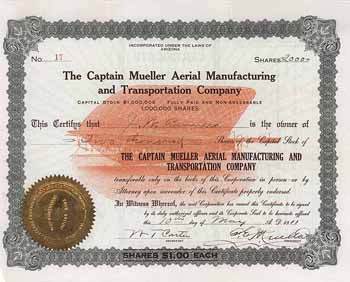 Captain Mueller Aerial Manufacturing and Transportation Co.