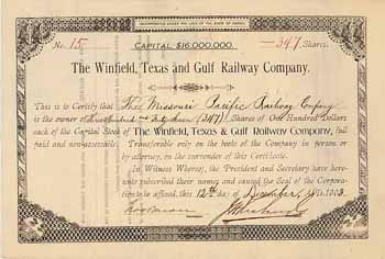 Winfield, Texas & Gulf Railway