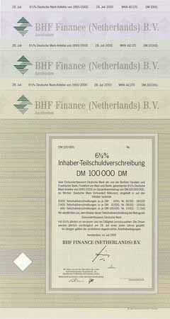 BHF Finance (Netherlands) B.V. (3 Stücke)