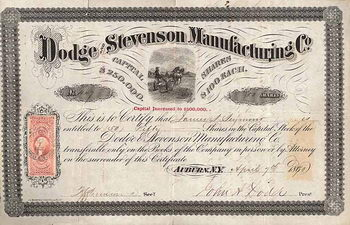 Dodge and Stevenson Manufacturing Co.