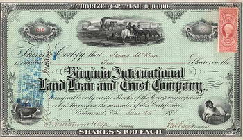 Virginia International Land Loan and Trust Co