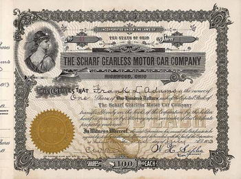 Scharf Gearless Motor Car Co.