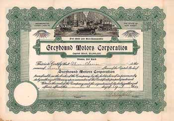 Greyhound Motors Corp.