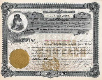 German-American West African Railway, Trading and Colonization Co. of Washington, D.C.