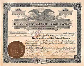 Denver, Enid & Gulf Railroad
