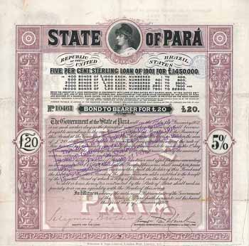 State of Para 5 % Sterling Loan of 1901
