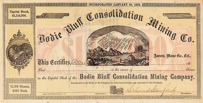Bodie Bluff Consolidation Mining Co. (OU Leland Stanford)