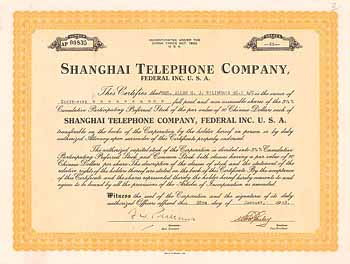 Shanghai Telephone Company, Federal Inc. USA
