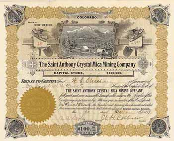Saint Anthony Crystal Mica Mining Co.