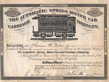 Automatic Spring Motor Car & Carriage Co.