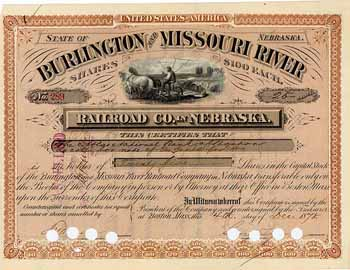 Burlington & Missouri River Railroad Co. in Nebraska