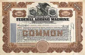 Federal Adding Machine Corp.