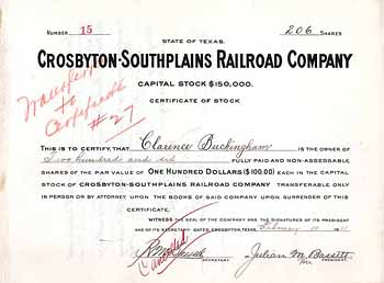 Crosbyton-Southplains Railroad