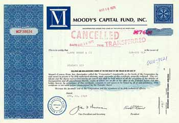 Moody's Capital Fund, Inc.