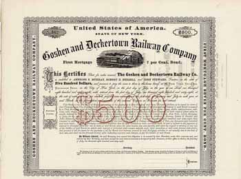 Goshen & Deckertown Railway