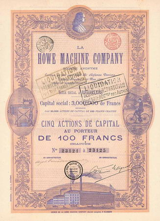 La Howe Machine Co. S.A.