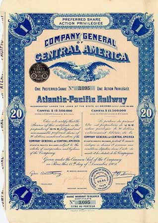 Atlantic-Pacific Railway (Company General of Central America)