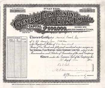 General Film Renting (1920) Co.
