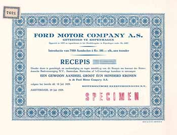 Ford Motor Company A.S.