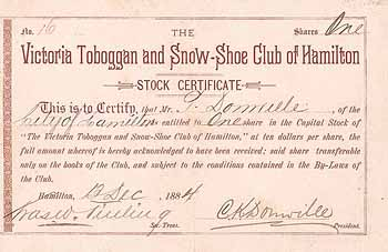 Victoria Toboggan & Snow-Shoe Club of Hamilton