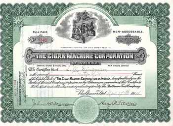 Cigar Machine Corp. of America