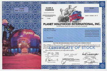 Planet Hollywood International Inc., Version III