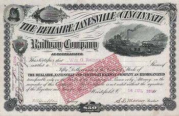 Bellaire, Zanesville & Cincinnati Railway (as reorganized)