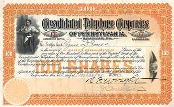 Consolidated Telephone Co. of Pennsylvania