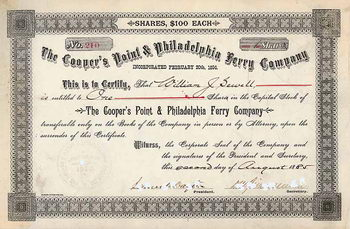 Cooper's Point & Philadephia Ferry Co.