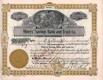 Miners' Savings Bank and Trust Co.