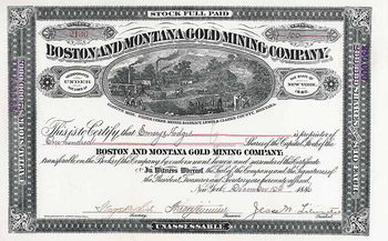 Boston & Montana Gold Mining Co.