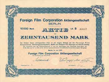 Foreign Film Corporation AG