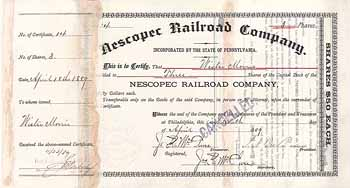 Nescopec Railroad
