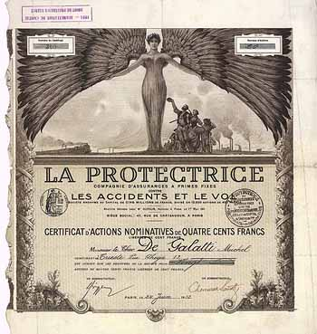 LA PROTECTRICE Cie. d'Assurances a primes fixes contre les Accidents et le Vol S.A.