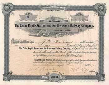 Cedar Rapids Garner and Northwestern Railway