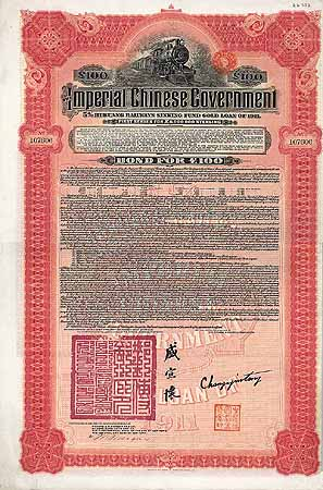 Imperial Chinese Government 5 % Hukuang Railways Gold Loan