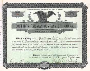 Southern Railway Co. of Indiana