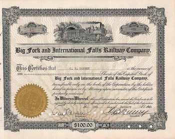 Big Fork & International Falls Railway