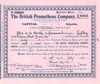 British Prometheus Co.
