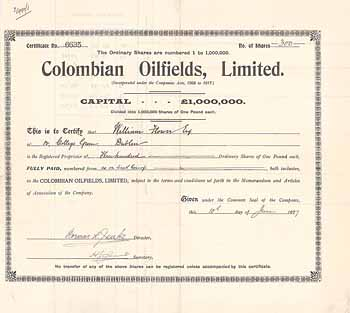 Colombian Oilfields Ltd.