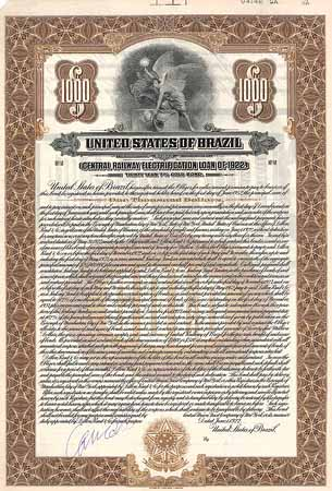 United States of Brazil (Central Railway Electrification Loan of 1922)